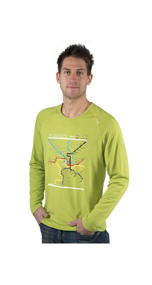 Chillaz Verdon Map - T-shirt manches longues Homme - vert